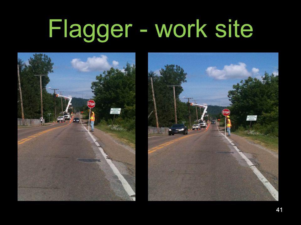 Flagger - work site 42