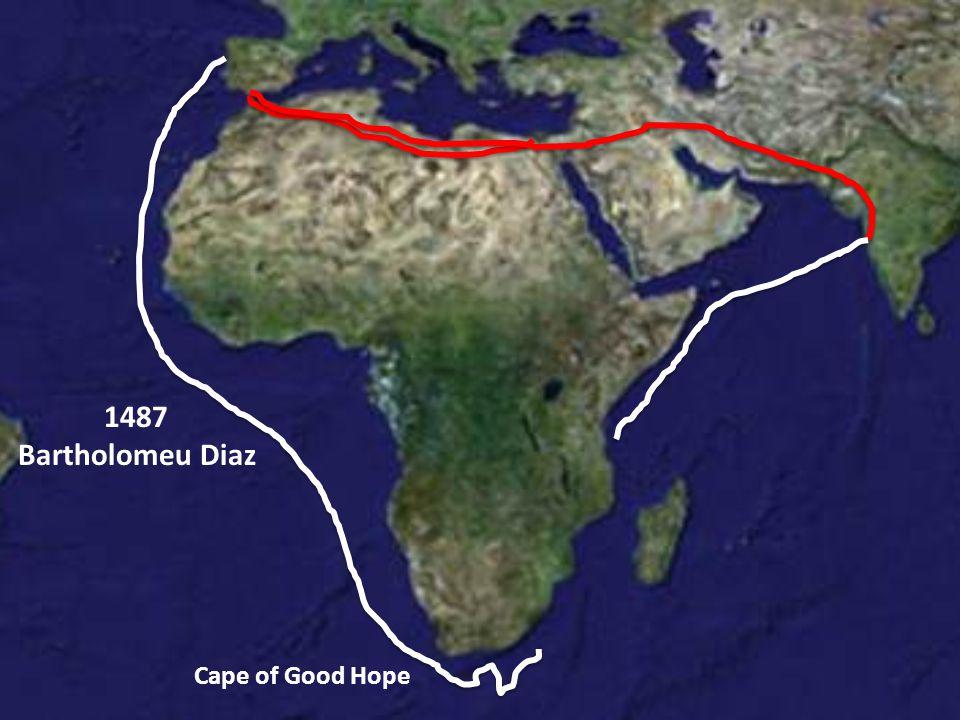 1487 Bartholomeu Diaz Cape of Good Hope