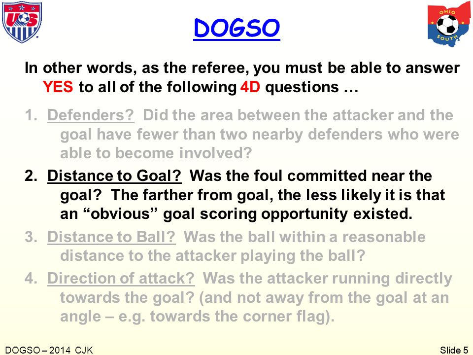 Slide 6 As the referee, you must also be able to answer YES to these questions as well ….