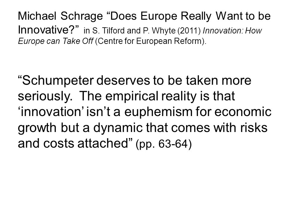 Michael Schrage Does Europe Really Want to be Innovative in S.