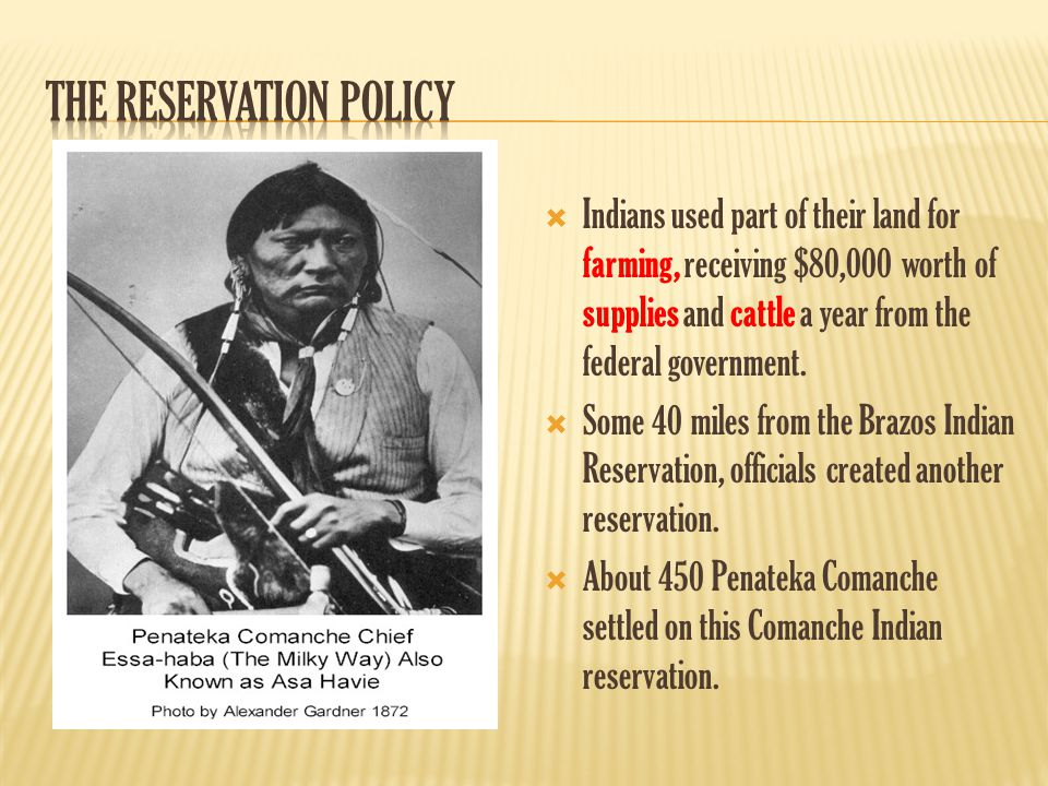  Indians used part of their land for farming, receiving $80,000 worth of supplies and cattle a year from the federal government.  Some 40 miles from