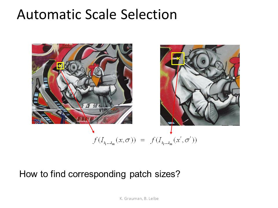Automatic Scale Selection Function responses for increasing scale (scale signature) K.