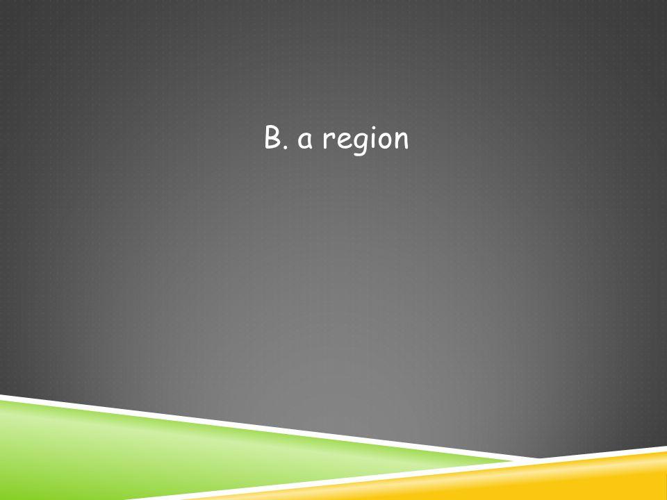 B. a region