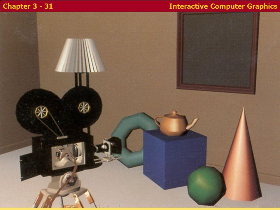 Interactive Computer GraphicsChapter 3 - 31