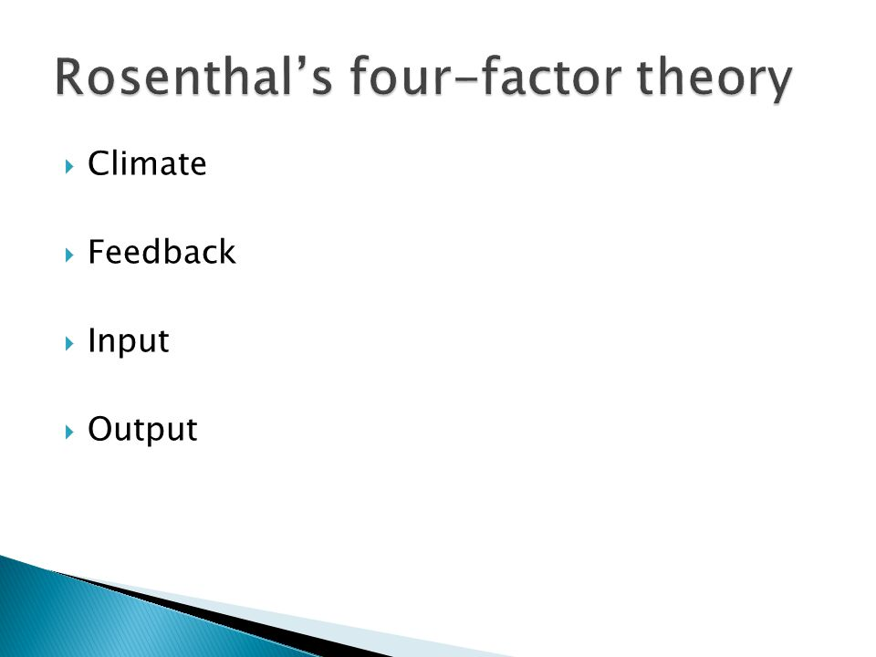  Stronger effects for affective climate and instructional input  A smaller effect for output  A practically negligible effect for differential feedback behaviours