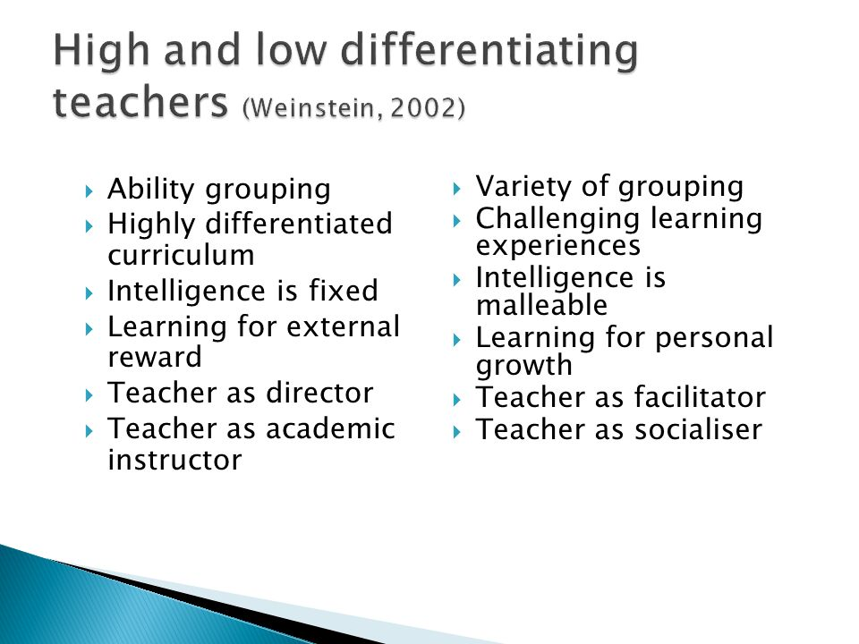  The question is not, what is it about students that mean teachers have high or low expectations for them; the question we should be asking is, what is it about teachers that means some have high or low expectations for all their students?