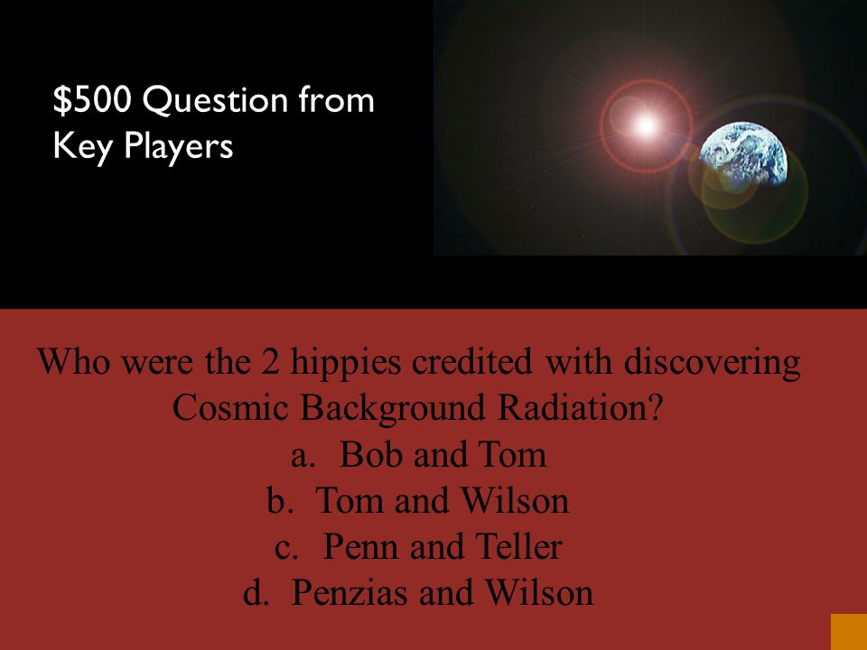 $400 Answer from Key Players Christian Doppler
