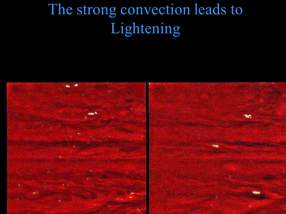 The strong convection leads to Lightening