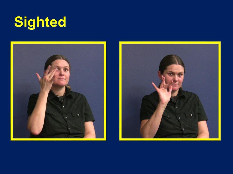 Regular ASL Sign