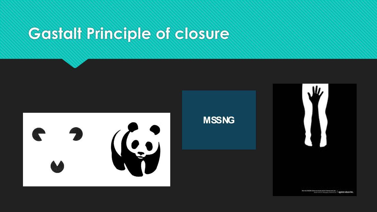 Gastalt Principle of closure