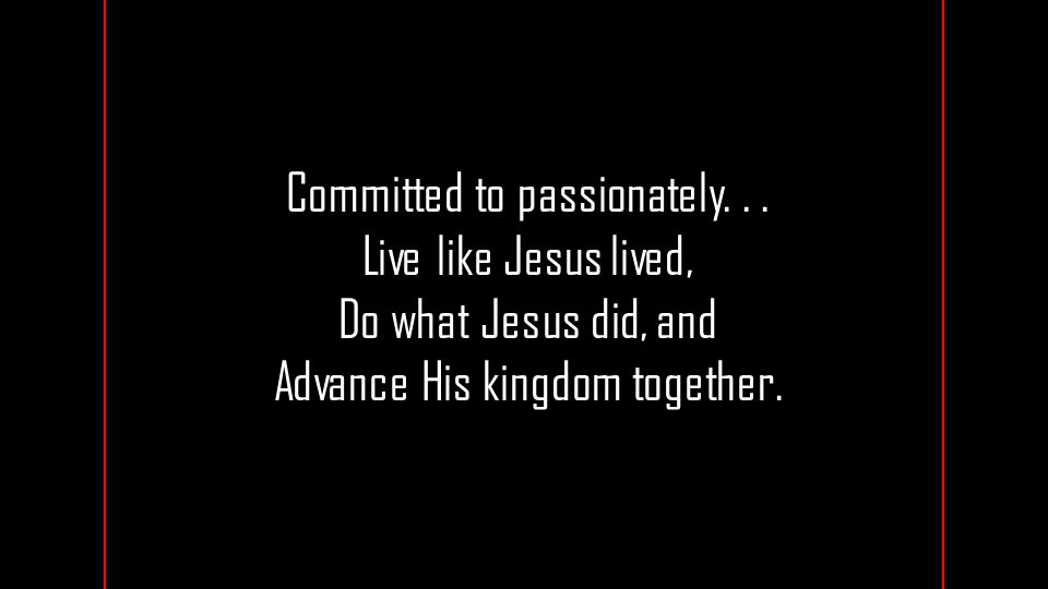 Committed to passionately...
