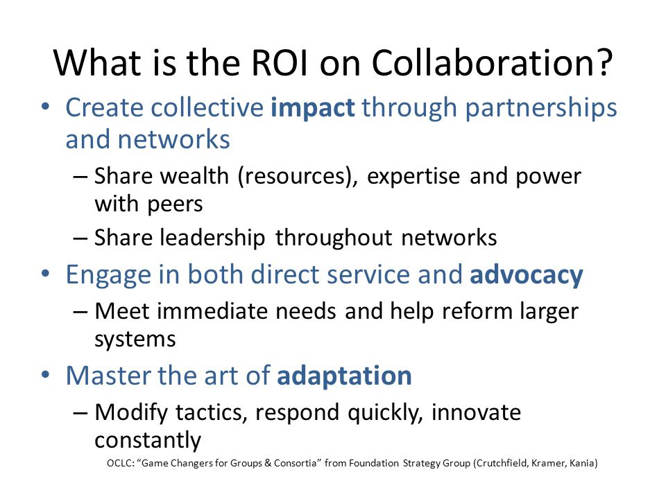 What is the ROI on Collaboration.