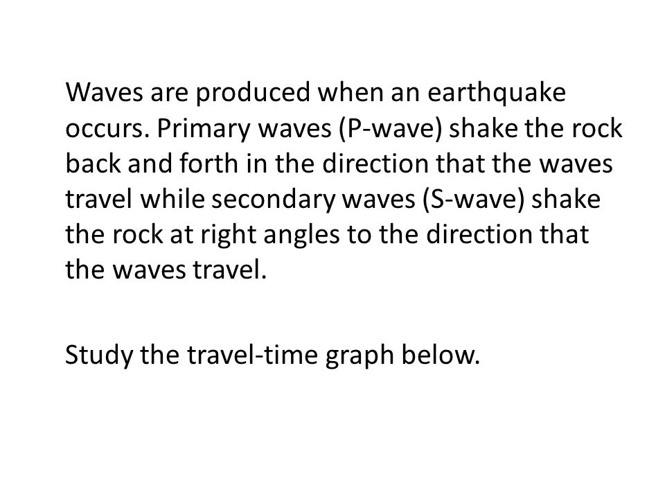 Waves are produced when an earthquake occurs.