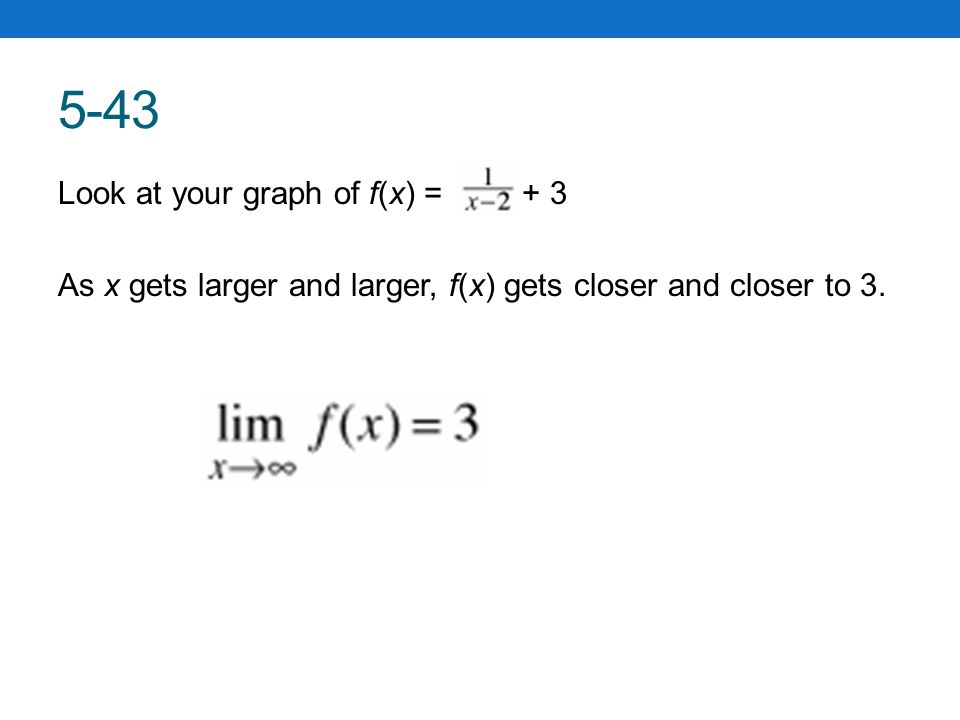 MATH NOTES - Definition of a One-Sided Limit The formal definition of a limit is well beyond this course.
