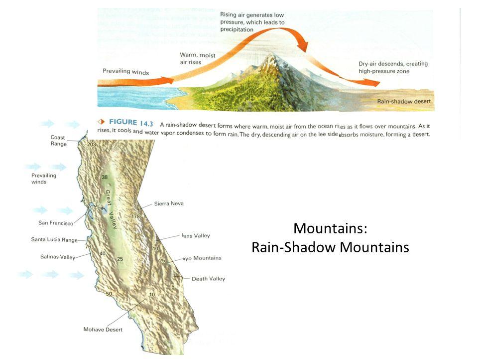 Mountains: Rain-Shadow Mountains