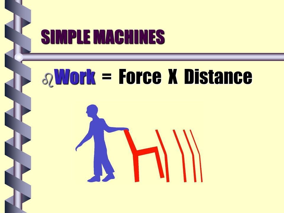 SIMPLE MACHINES b Energy is the ability to do work.is the ability to do work.