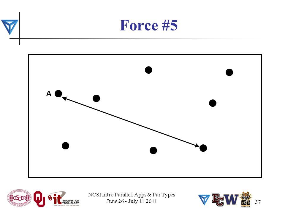 37 Force #5 A NCSI Intro Parallel: Apps & Par Types June 26 - July 11 2011