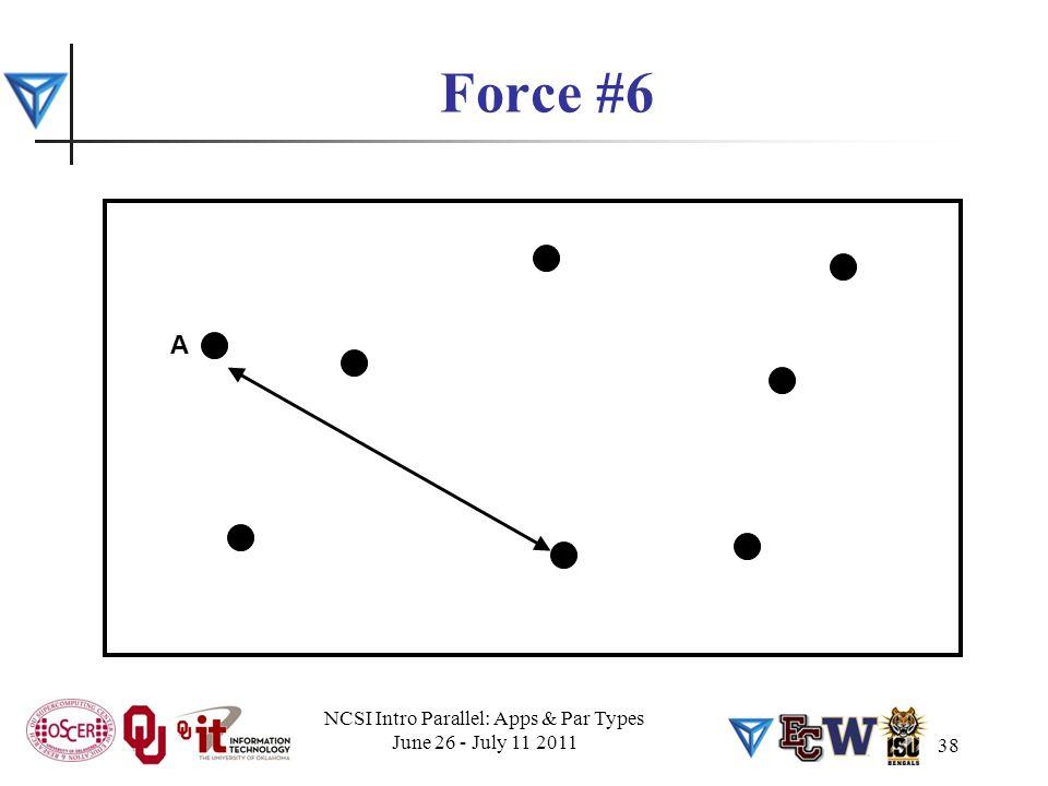 38 Force #6 A NCSI Intro Parallel: Apps & Par Types June 26 - July 11 2011