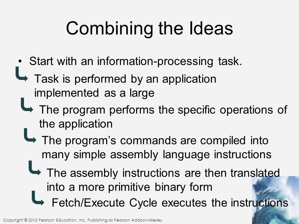 Combining the Ideas Start with an information-processing task.