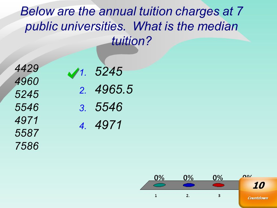 Below are the annual tuition charges at 7 public universities.