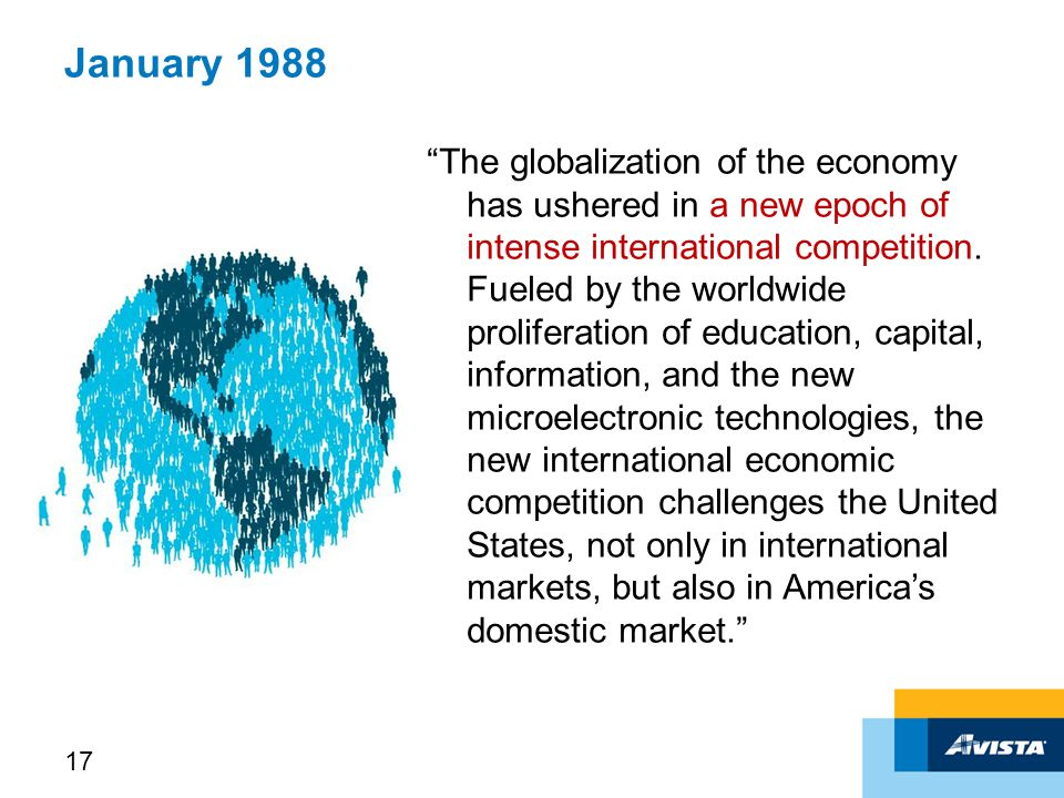 January 1988 The globalization of the economy has ushered in a new epoch of intense international competition.