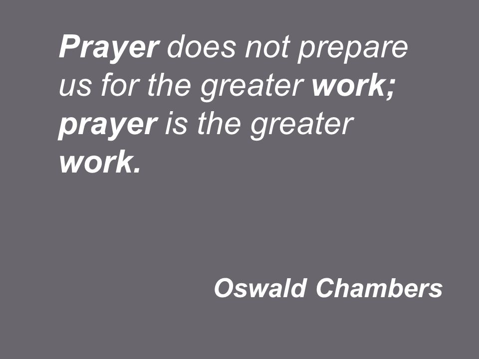 We need to make prayer a priority in our lives. Praying give us direction.