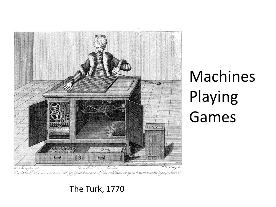 Machines Playing Games The Turk, 1770