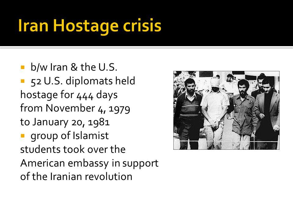  b/w Iran & the U.S.  52 U.S.