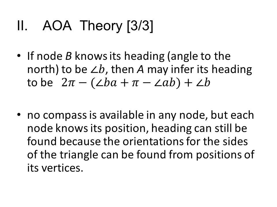 II. AOA Theory [3/3]