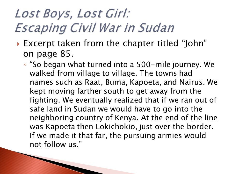  Excerpt taken from the chapter titled John on page 85.