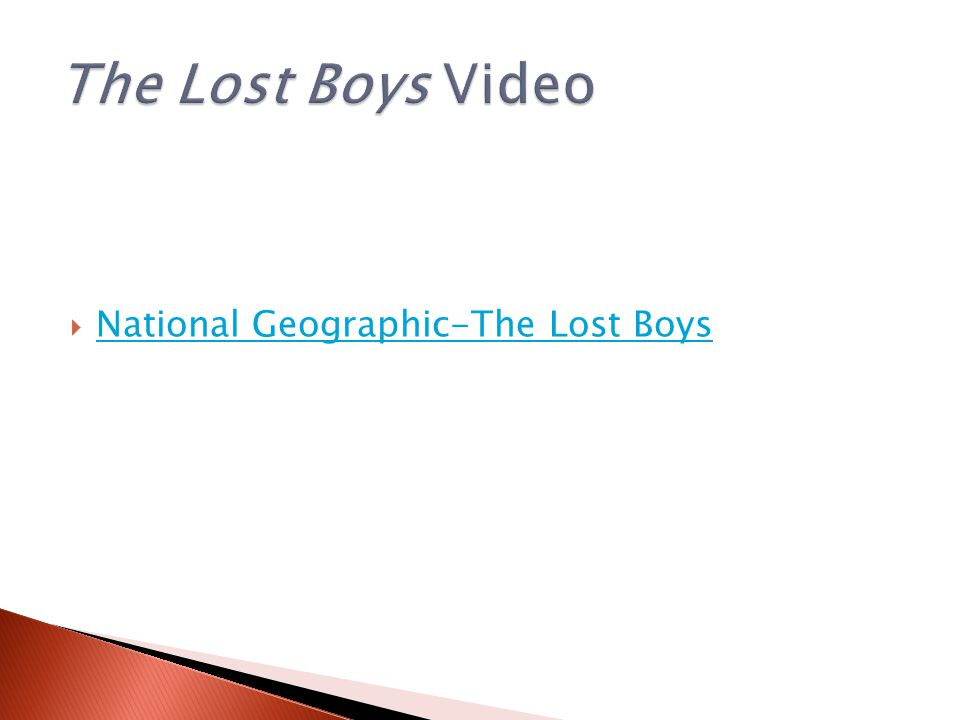  National Geographic-The Lost Boys National Geographic-The Lost Boys