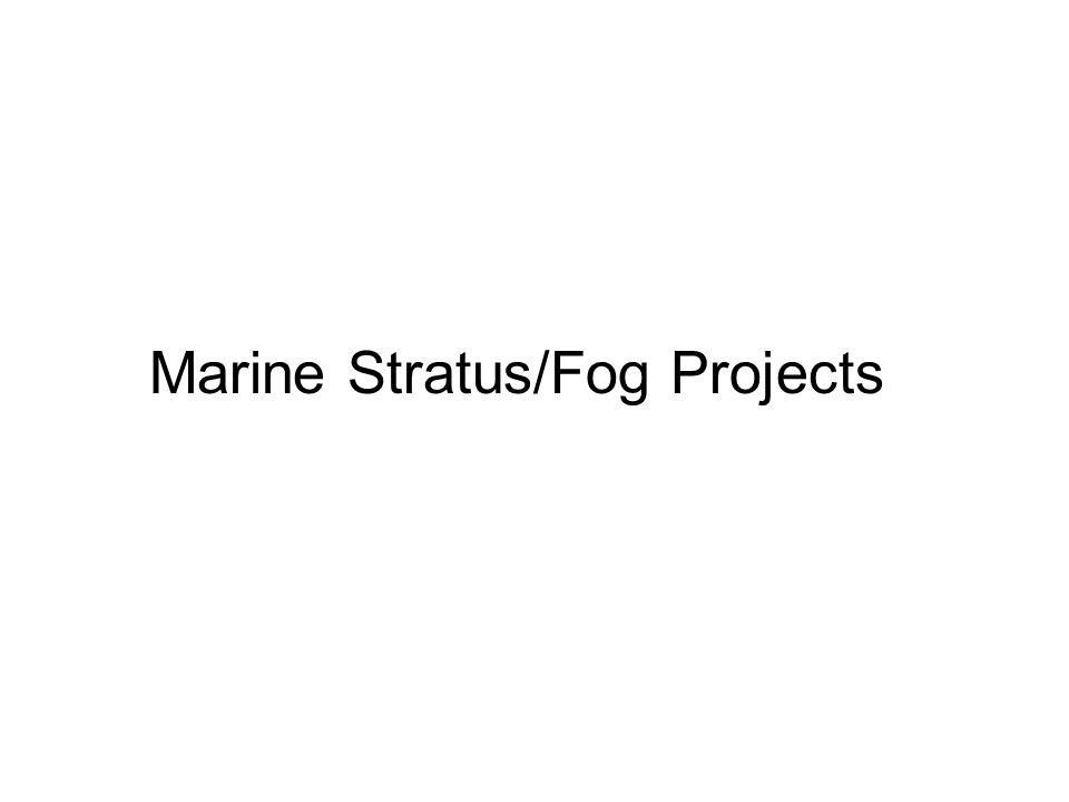 Marine Stratus/Fog Projects