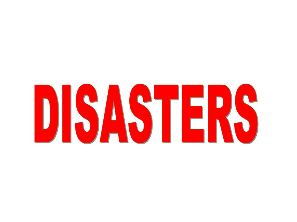 What are Natural Disasters.
