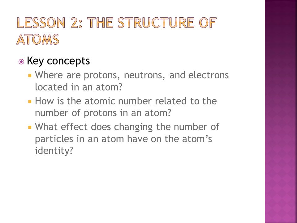  Summary  An element is a substance made of only one kind of atom.