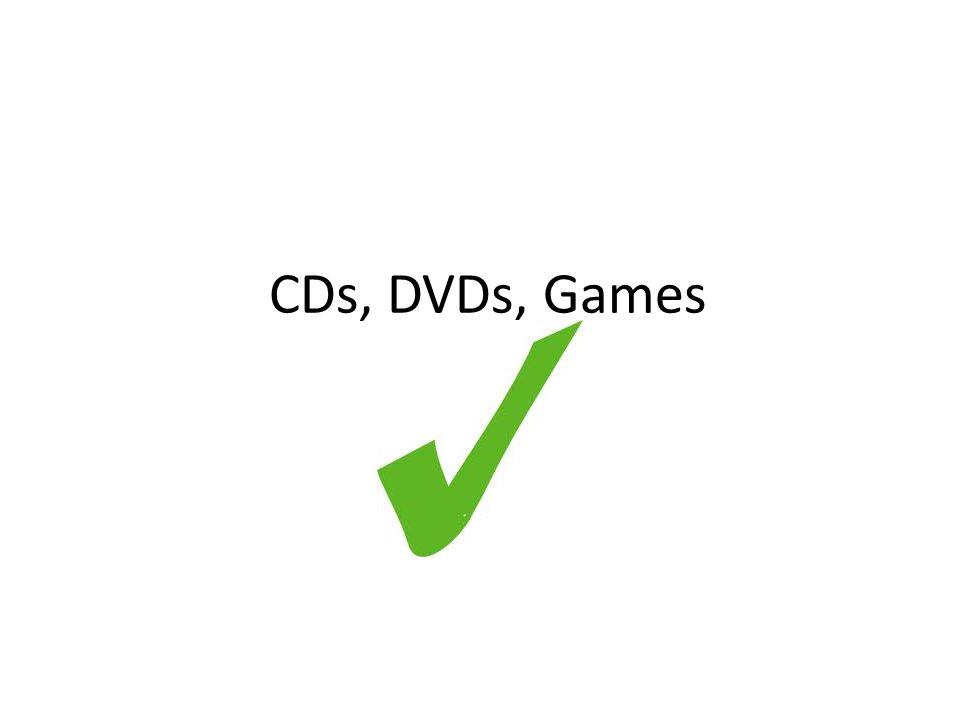 CDs, DVDs, Games