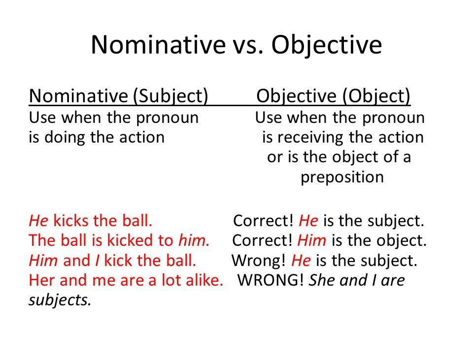 Nominative vs.