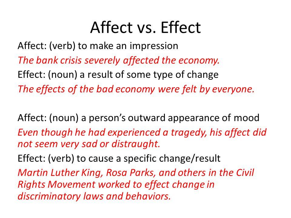 Affect vs.