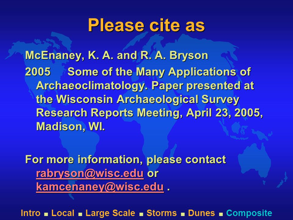 Intro  Local  Large Scale  Storms  Dunes  Composite Please cite as McEnaney, K.