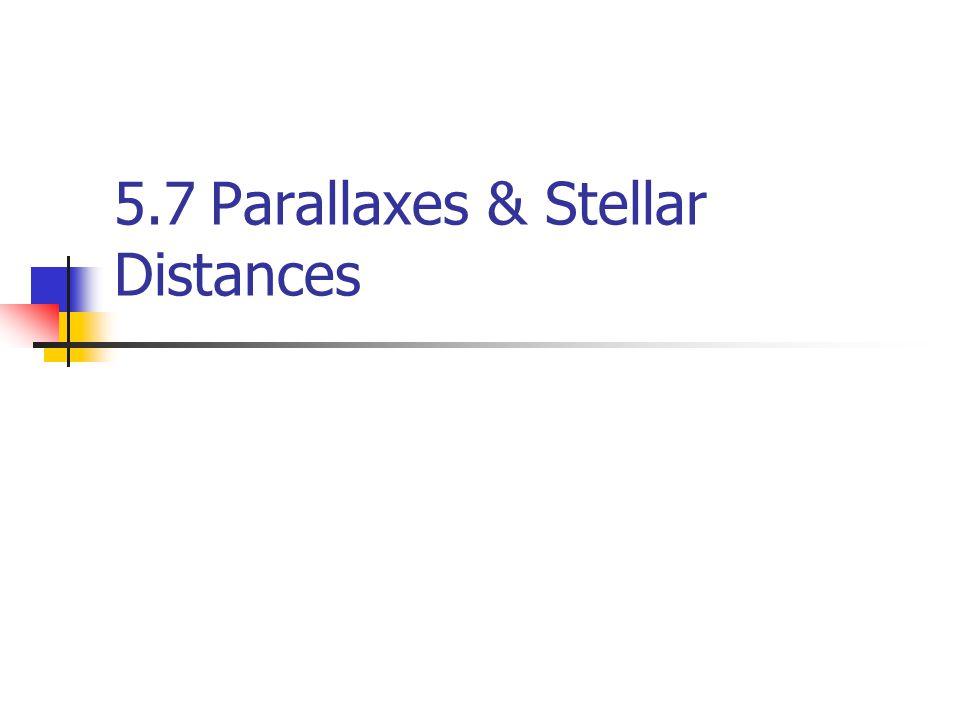 5.7Parallaxes & Stellar Distances