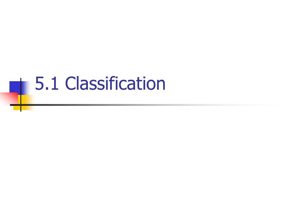 5.1 Classification