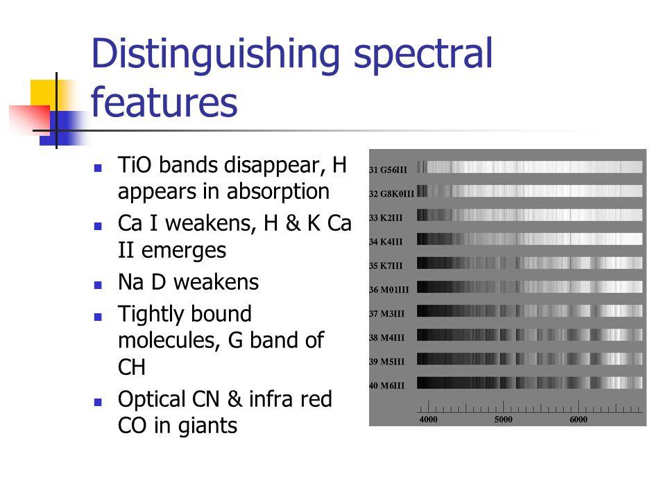 Comparison of star's spectra