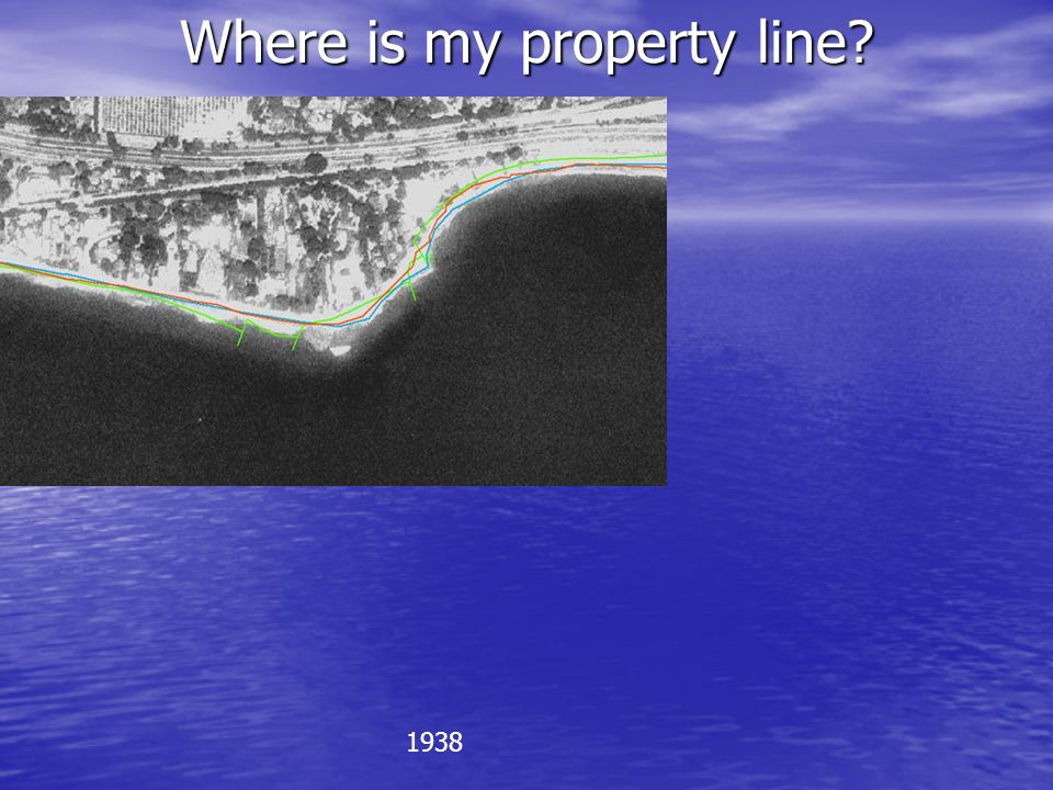 Where is my property line? 1938