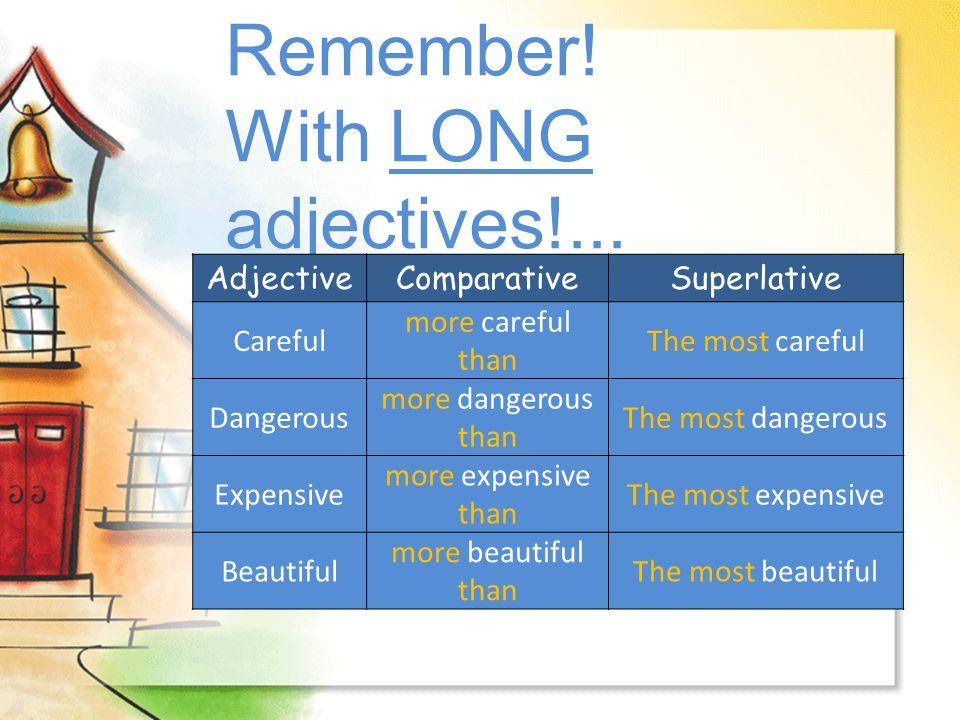 Irregular adjectives...