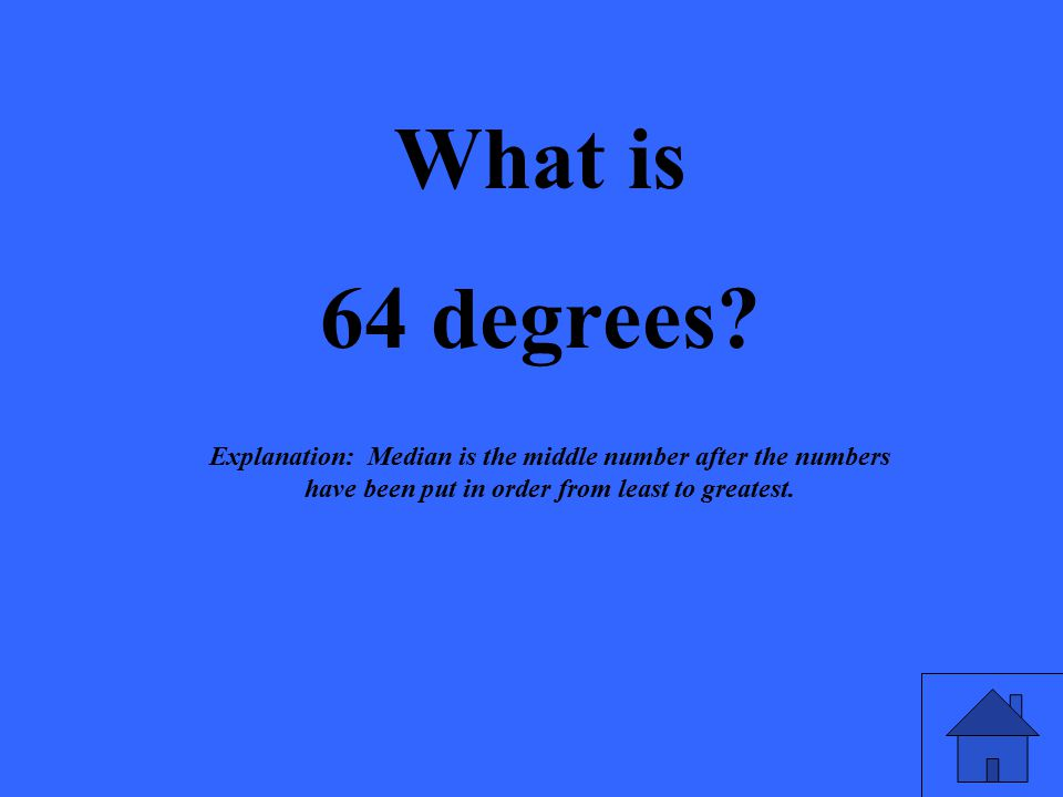 What is 64 degrees.