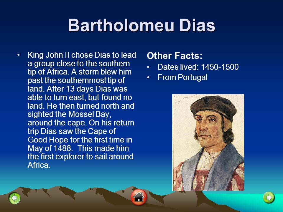 Christopher Columbus Christopher Columbus dreamed of becoming a sailor.