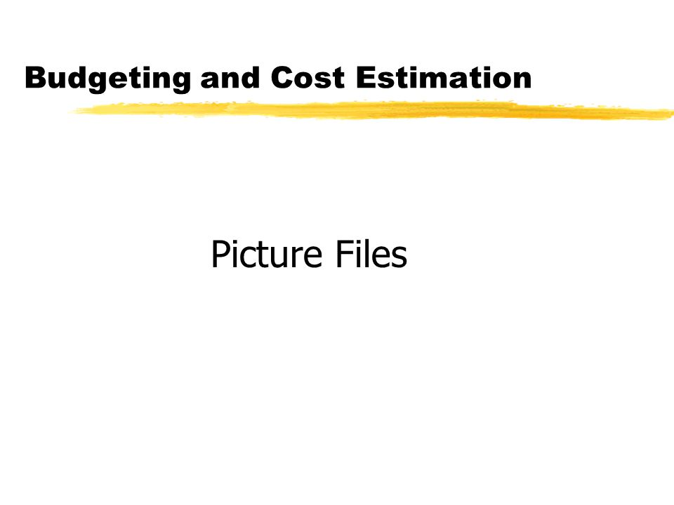 Budgeting and Cost Estimation Picture Files