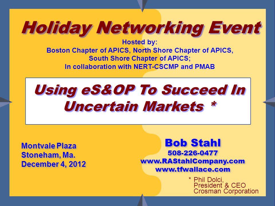 Bob Stahl www.tfwallace.com www.RAStahlCompany.com Montvale Plaza Stoneham, Ma.