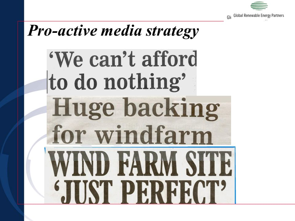 Pro-active media strategy