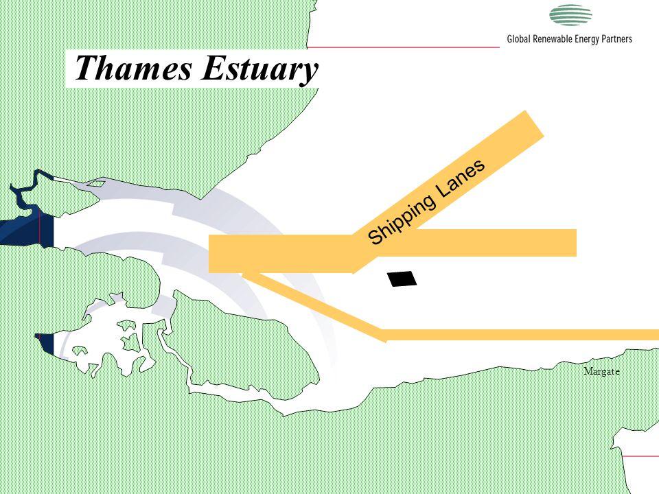 LONDON Margate Thames Estuary Shipping Lanes