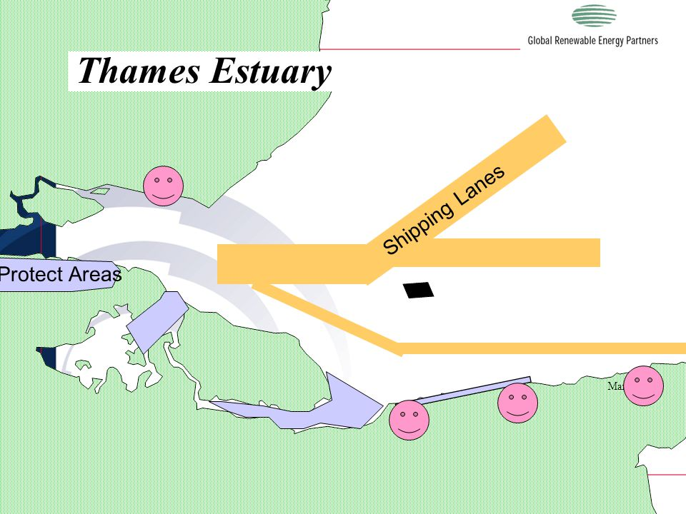 LONDON Margate Thames Estuary Shipping Lanes Protect Areas